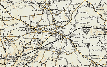 Old map of Gillingham in 1897-1899