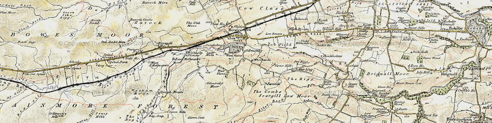 Old map of Whorlands in 1903-1904