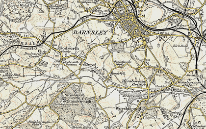 Old map of Gilroyd in 1903