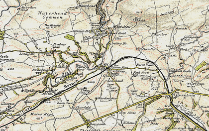 Old map of Gilsland in 1901-1904