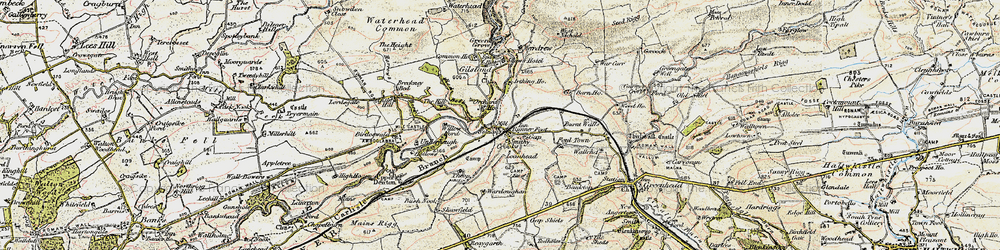 Old map of West Nichold in 1901-1904