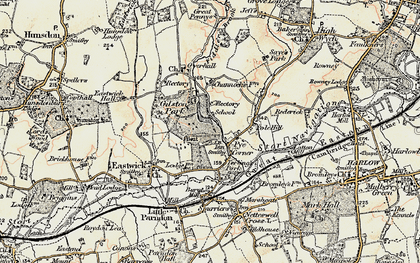 Old map of Gilston in 1898