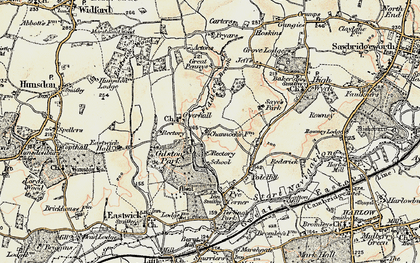 Old map of Gilston Park in 1898