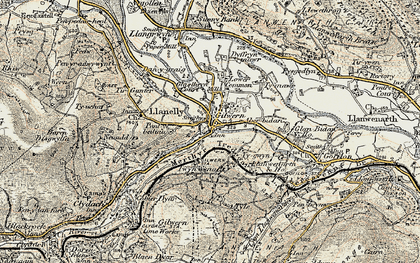 Old map of Gilwern in 1899-1901