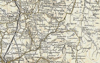 Old map of Yearns Low in 1902-1903