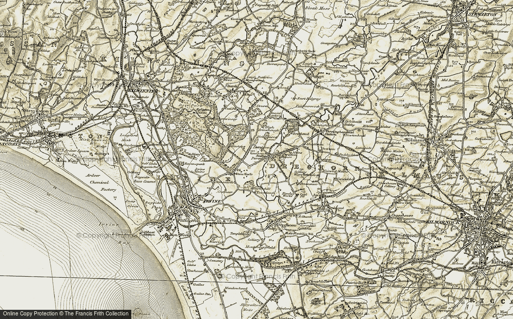 Old Map of Historic Map covering Lawthorn in 1905-1906