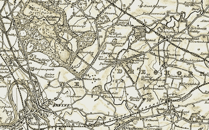 Old map of Lawthorn in 1905-1906