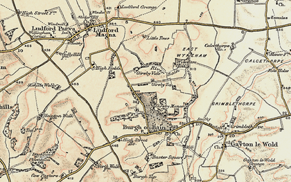 Old map of Girsby Top in 1903