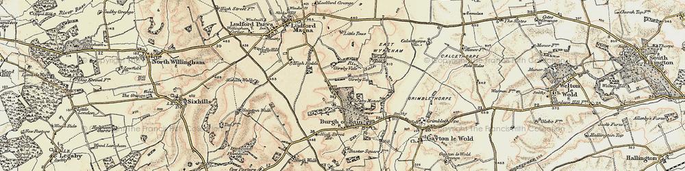 Old map of West Wykeham Village in 1903