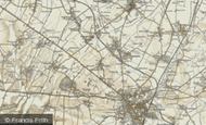 Map of Girton, 1899-1901
