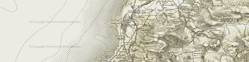 Old map of Woodland Bay in 1905