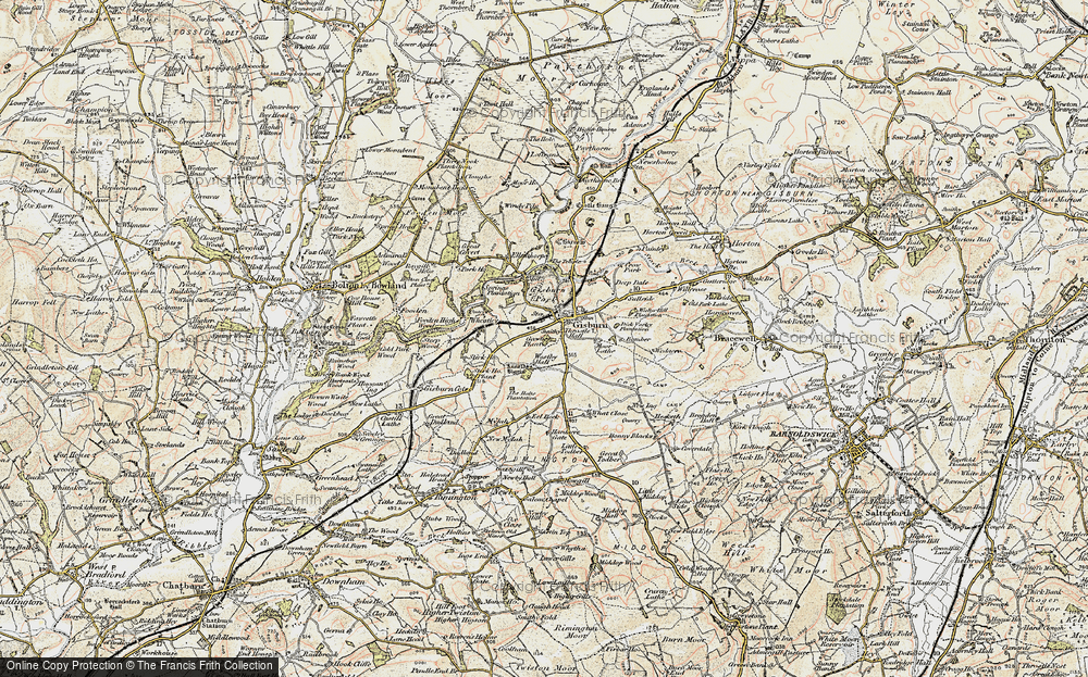 Old Map of Gisburn, 1903-1904 in 1903-1904
