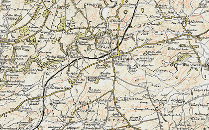 Old map of What Close in 1903-1904