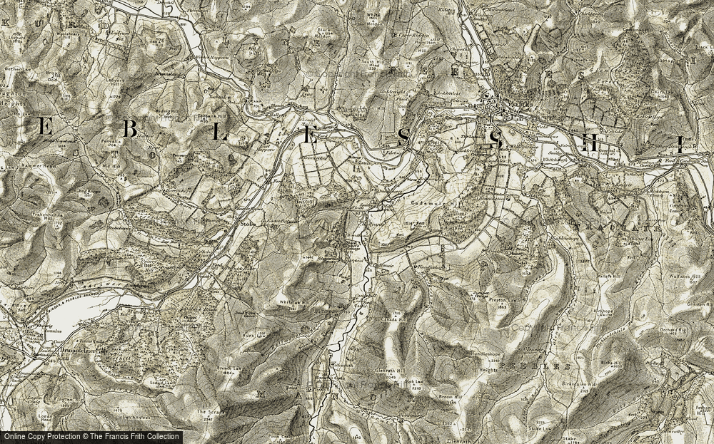 Old Map of Historic Map covering Woodhouse in 1903-1904