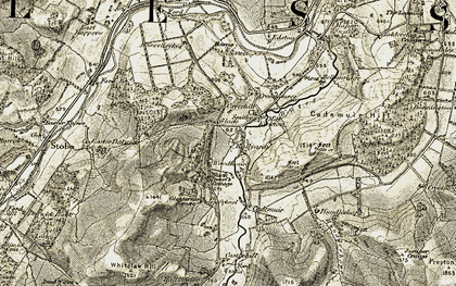 Old map of Woodhouse in 1903-1904