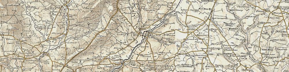 Old map of Aberelwyn in 1901