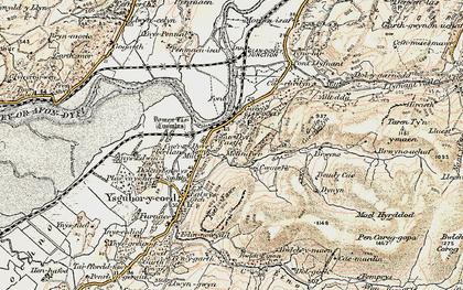 Old map of Glandyfi in 1902-1903
