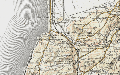 Old map of Ynysfergi in 1902-1903
