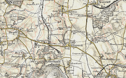 Old map of Glapwell in 1902-1903