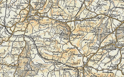 Old map of Glassenbury in 1897-1898