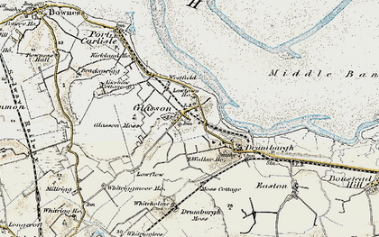 Old map of Whitriggmoor Ho in 1901-1904