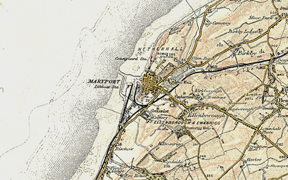 Old map of Alavna Roman Fort in 1901-1905