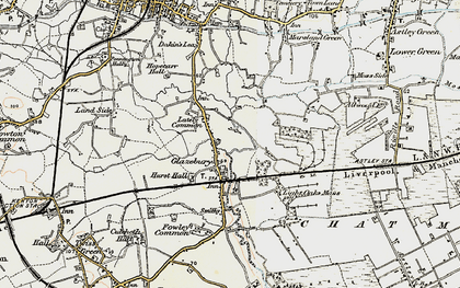 Old map of Glazebury in 1903