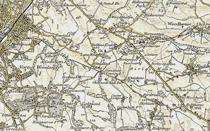 Old map of Gleadless in 1902-1903