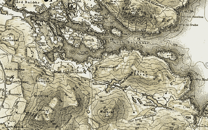 Old map of Bagh Marulaigh in 1911