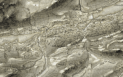 Old map of Glen Affric in 1908-1912