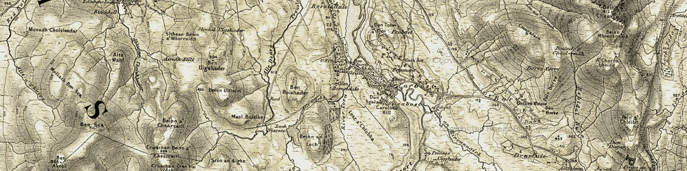 Old map of Leac a' Chlobha in 1909