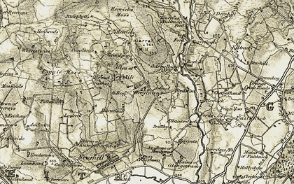Old map of Greycairn in 1910