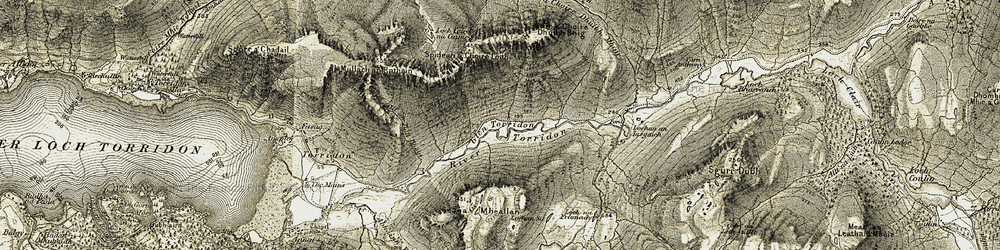 Old map of Am Fasarinen in 1908-1909