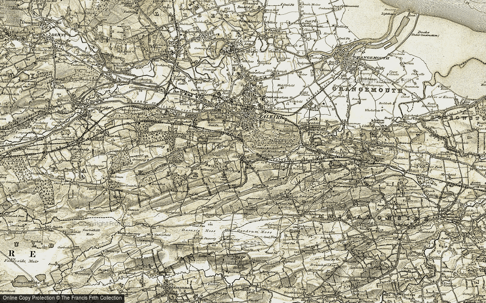 Old Map of Historic Map covering Avon Brook Steading in 1904-1907