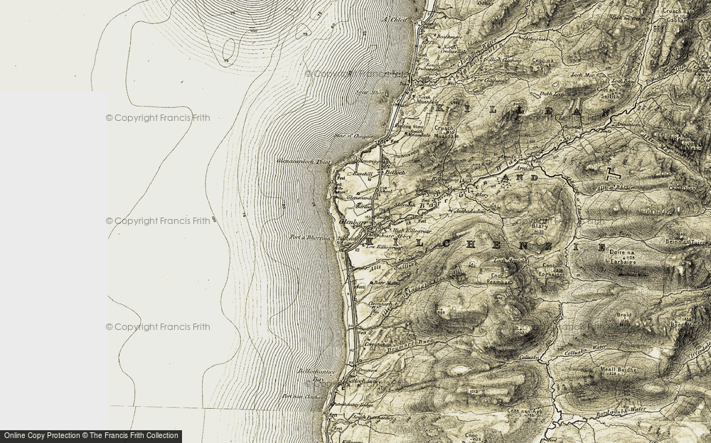 Old Map of Historic Map covering Allt Caillich in 1905-1906
