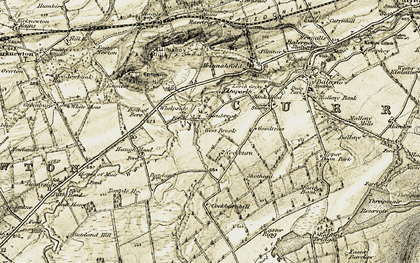 Old map of Whelpside in 1903-1904