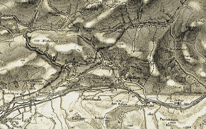 Old map of Wetherhill Cairn in 1904-1905