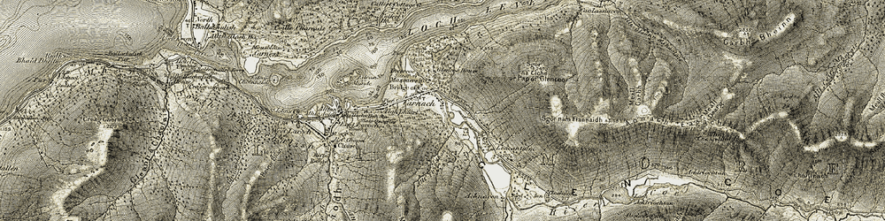 Old map of Tigh-phuirt in 1906-1908