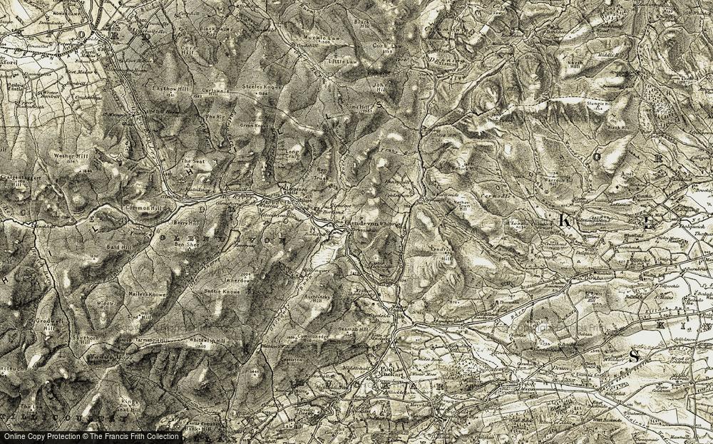 Old Map of Glendevon, 1904-1908 in 1904-1908
