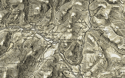 Old map of Westplace Burn in 1904-1908