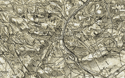 Old map of Abbots Deuglie in 1906-1908