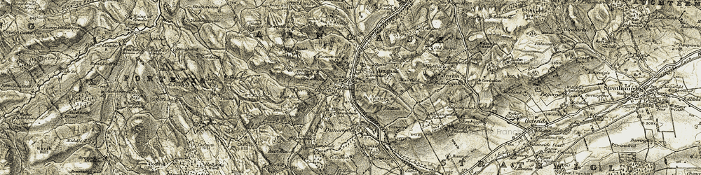 Old map of Letham in 1906-1908