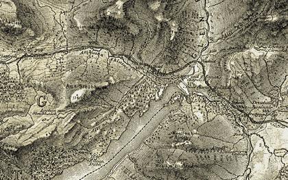 Old map of Abhainn Shlatach in 1906-1908