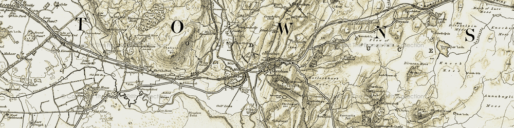 Old map of Whitecairn in 1905