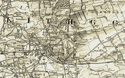 Old map of Limefield in 1904