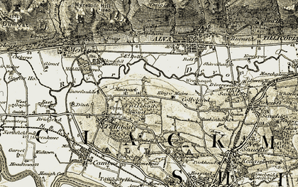 Old map of Glenochil Village in 1904-1907