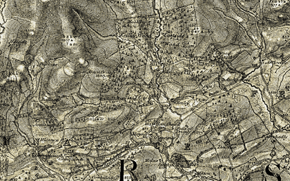 Old map of Baikies in 1907-1908