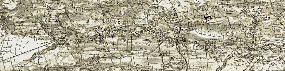 Old map of Glenrothes in 1903-1908