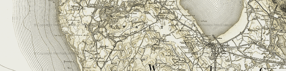 Old map of Allandoo in 1905