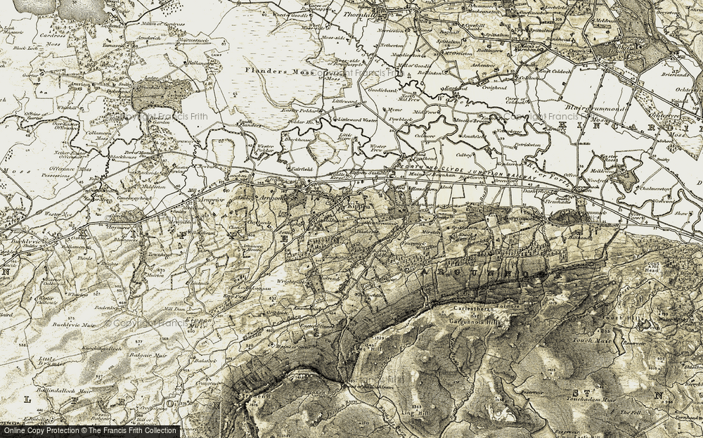 Old Map of Historic Map covering Ballochleam in 1904-1907